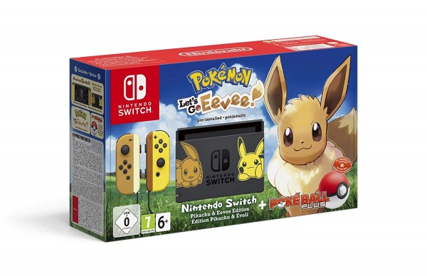 Nintendo Switch Konsole Pokemon: Let's Go, Evoli! Bundle