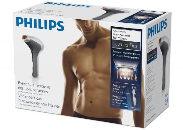 Philips TT3003/11 IPL Haarentfernungssystem Lumea for Men inkl Bodygroom