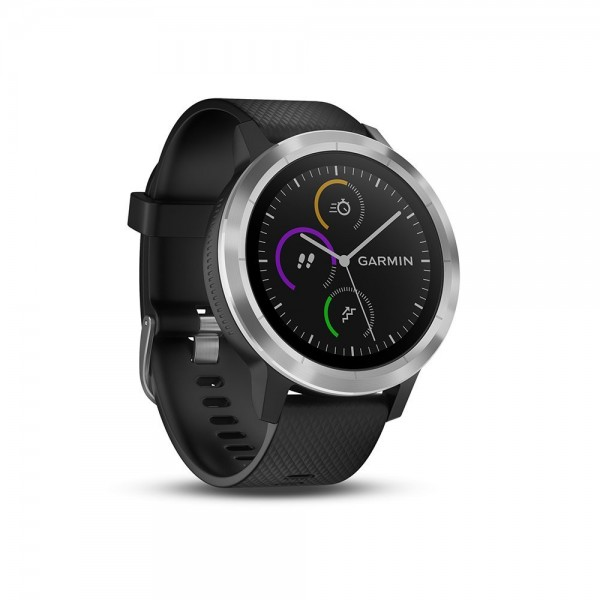 Garmin vívoactive 3 GPS-Fitness Smartwatch schwarz / silber - Wie neu
