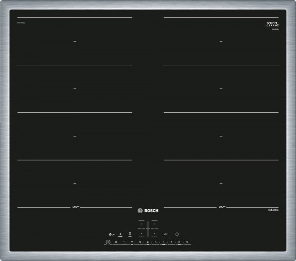 Bosch PXX645FC1E Serie 6 Domino-Kochfeld, Flex-Induktion 60 cm autark