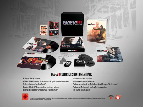 Mafia 3 III Collectors Edition PS4 Spiel *NEU OVP* Playstation 4