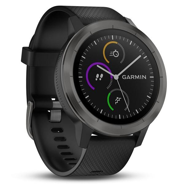 Garmin vívoactive 3 GPS-Fitness Smartwatch schwarz / schiefer