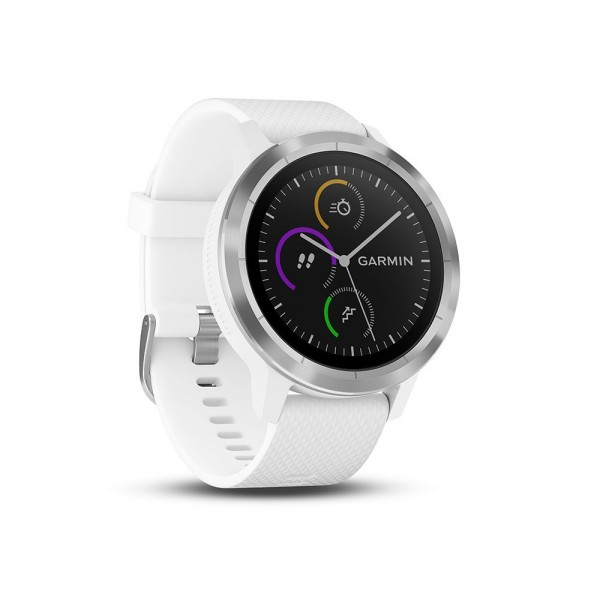 Garmin vívoactive 3 GPS-Fitness Smartwatch weiß / silber - Wie neu