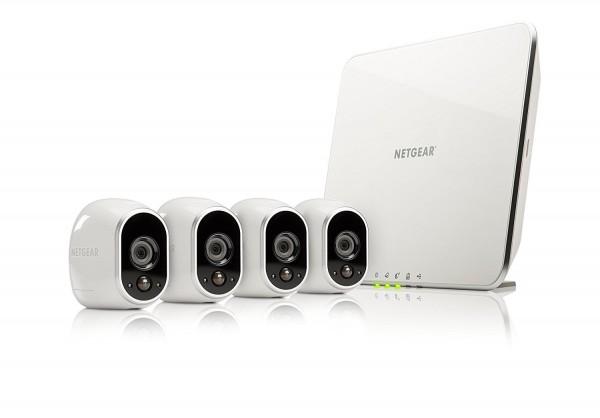 Netgear Arlo VMS3430-100EUS Smart Home 4 HD-Überwachung Kamera-Sicherheitssystem weiß