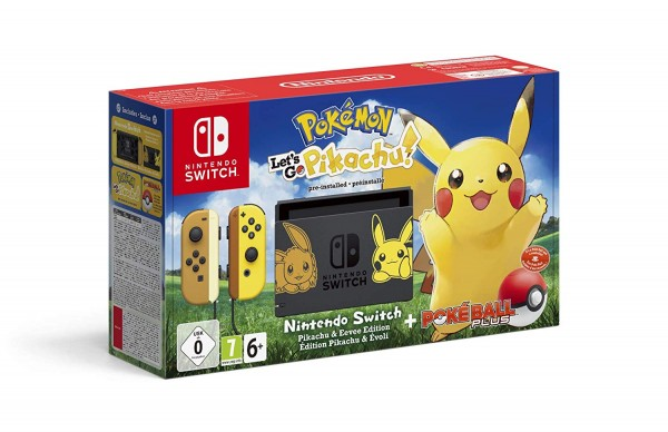 Nintendo Switch Konsole Pokemon: Let's Go, Pikachu! Bundle