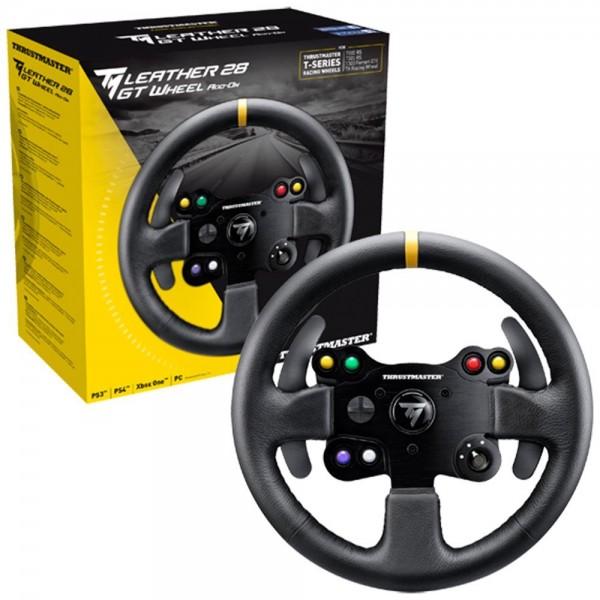 Thrustmaster Leather 28 GT Wheel AddOn Lenkrad AddOn, 28 cm, Leder, PS4 / PS3 / Xbox One / PC