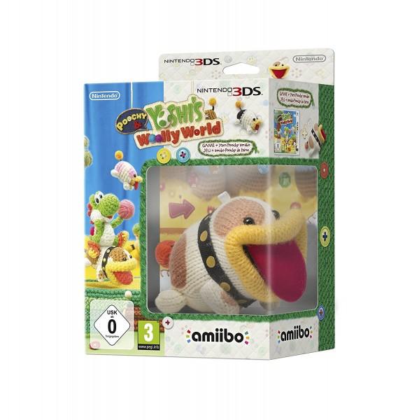 Nintendo Poochy und Yoshi's Woolly World + amiibo 3DS Spiel