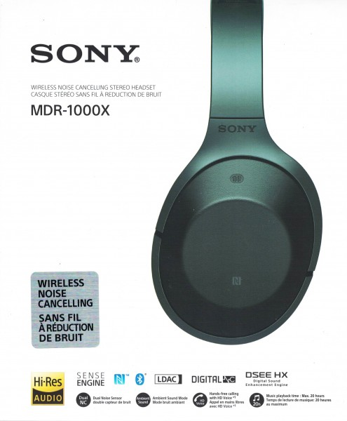 Sony MDR-1000X Wireless High Resolution Kopfhörer schwarz