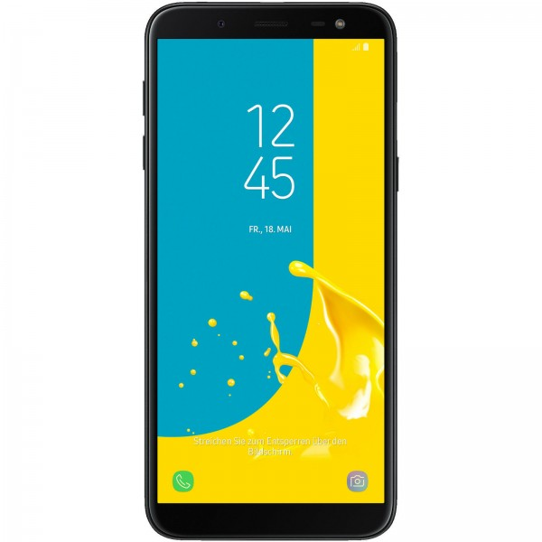 Samsung Galaxy J6 5,6 Zoll Dualsim 3GB Ram 32GB LTE Android Smartphone schwarz