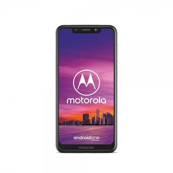 Motorola One Smartphone 5,9 Zoll Dualsim 64 GB 4 GB RAM, Android One Weiß, inkl. Schutzcover