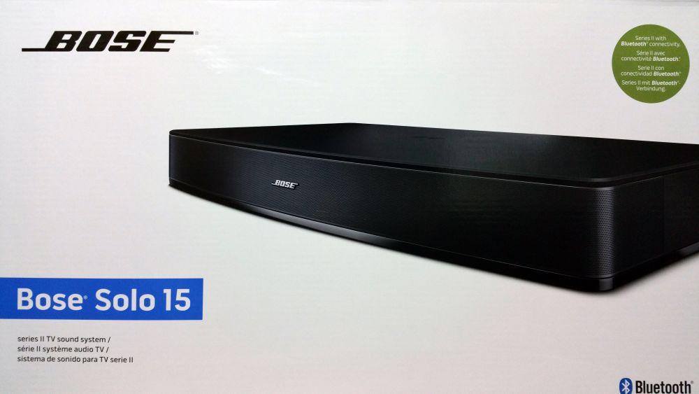 bose solo 15 series ii tv sound system schwarz wie neu ebay. Black Bedroom Furniture Sets. Home Design Ideas